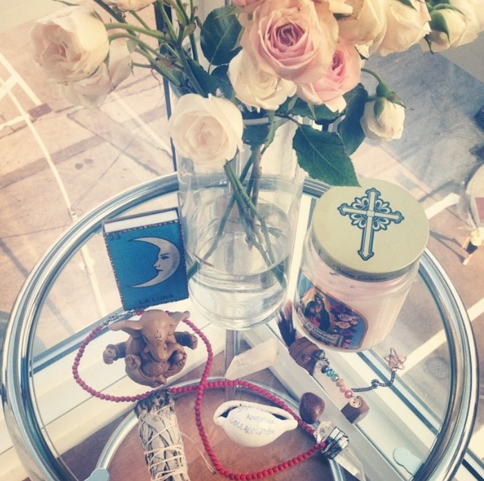 Numinous founder Ruby Warrington's altar from summer 2014 featured on The Numinous
