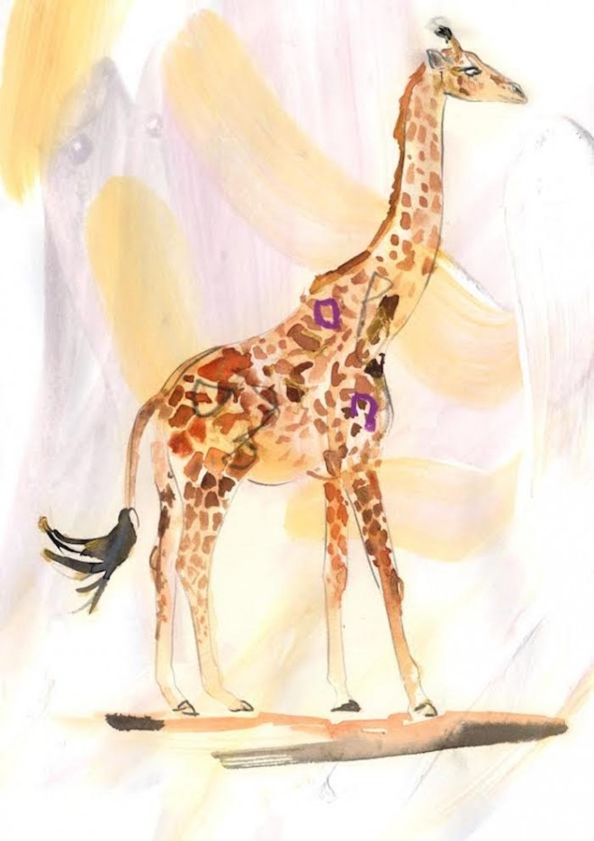 how to work with your spirit animal giraffe art by Erin Petson on The Numinous