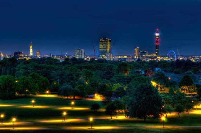View of London from Primrose Hill The Numinous
