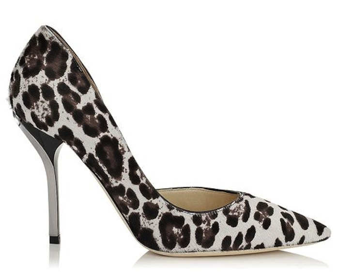 Margaret Nichols's Jimmy Choo leopard print pumps. Read more at Thenuminous.net