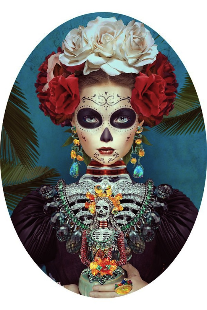 Day of the dead illustration by Natalie Shau. Read more at Thenuminous.net!