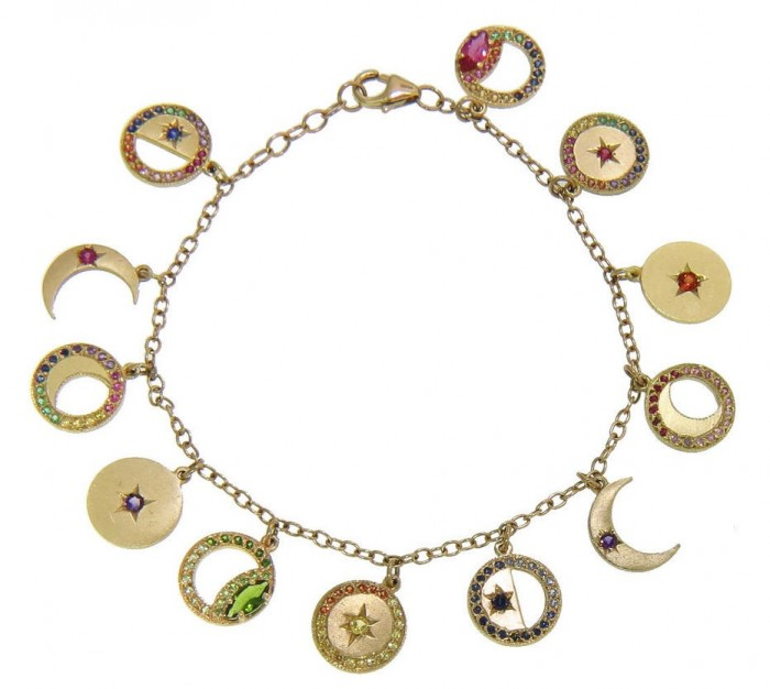 Moon Phase charm bracelet by Andrea Fohrman. Read more at Thenuminous.net!