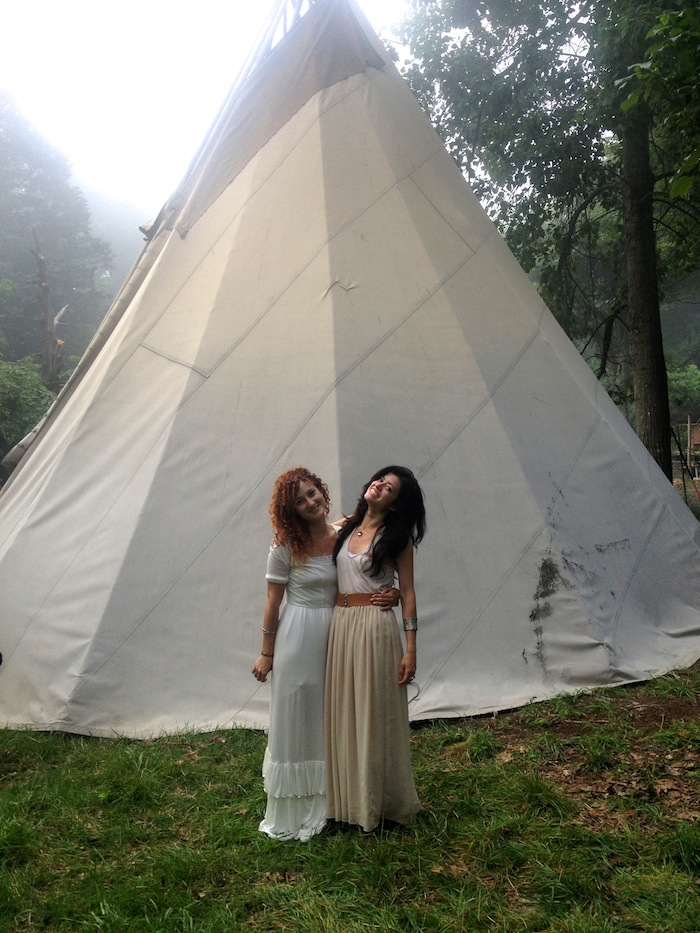 Alexandra Roxo at a peyote medicine ceremony tipi . Click to read more!