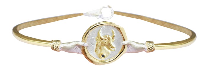 Astrology Jewelry Taurus Zodiac Oval Bangle by Louise Androlia and Jessica de Lot, click to read more!