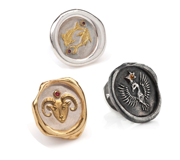 Astrology jewelry zodiac pin by Louise Androlia and Jessica de Lotz, click to read more!