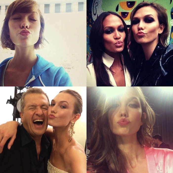 Supermodel selfies found on Harpers Bazaar. Read more at Thenuminous.net!