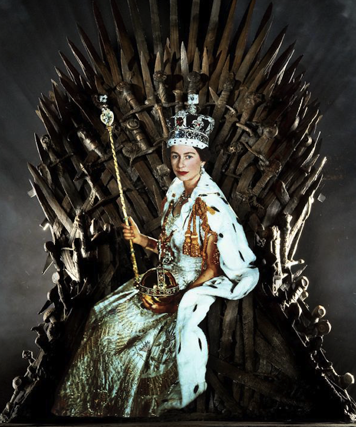 Queen Elizabeth II as the Tarot Queen of Swords. Read more at TheNuminous.net!