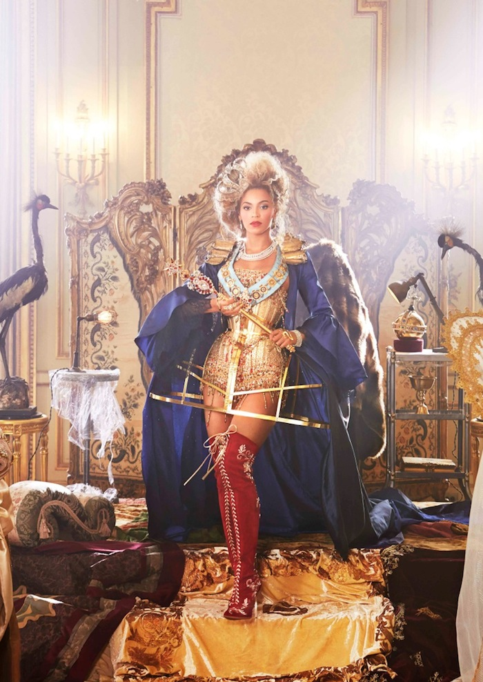 Beyonce as the Tarot Queen of Pentacles. Read more at TheNuminous.net!