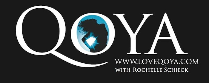 Qoya by Rochelle Schieck logo. Read more at Thenuminous.net!