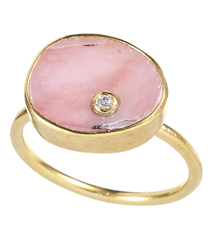 Pink opal ring by Max and Chrloe featured on TheNuminous.net