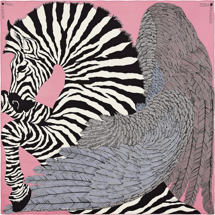Hermes Zebra Pegasus scarf chosen by Raw Vegan Blonde for TheNuminous.net
