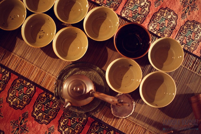 Cups set for a Living Tea ceremony with Colin Hudon featured on TheNuminous.net