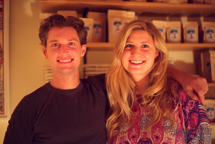 Madeline Giles with Living Tea founder Colin Hudon shot by Lisandra Vazquez for TheNuminous.net