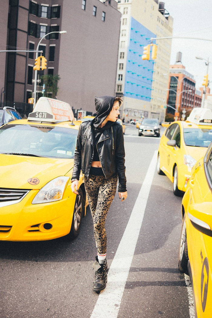 Victoria Keen leggings shot in NYC featured on The Numinous