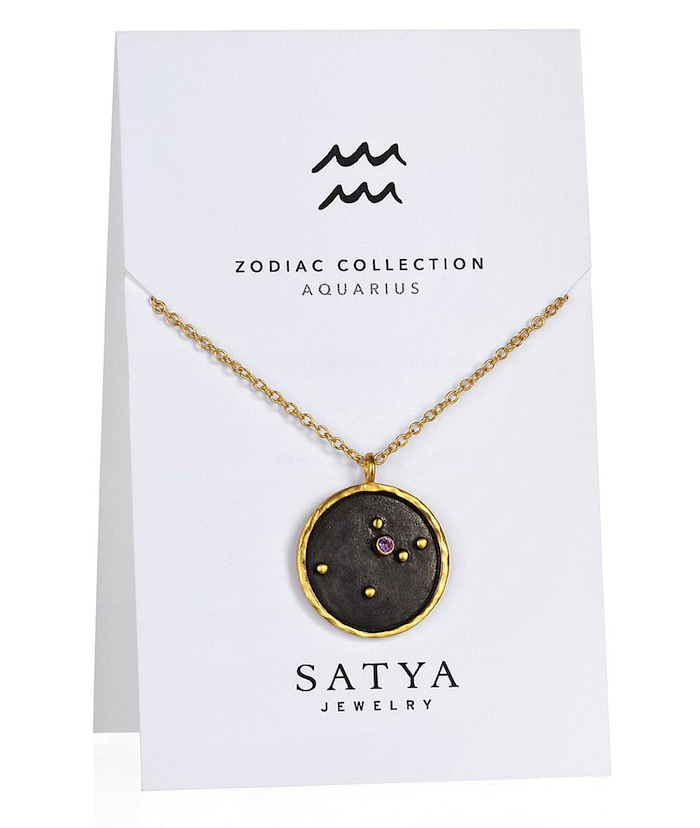 Satya Zodiac necklace for Aquarius featured on TheNuminous.net