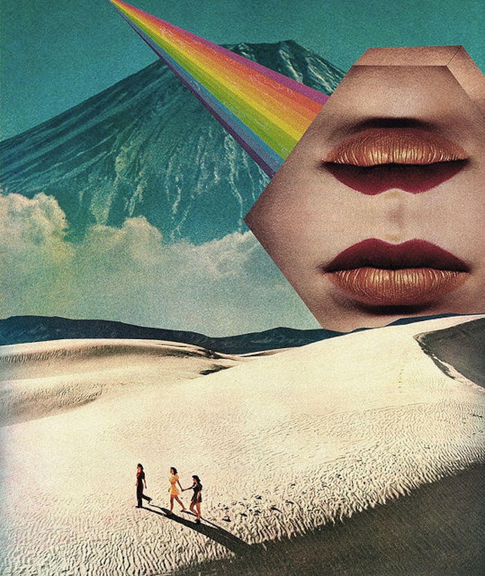 Surreal desert collage by Mariano Peccinetti on TheNuminous.net