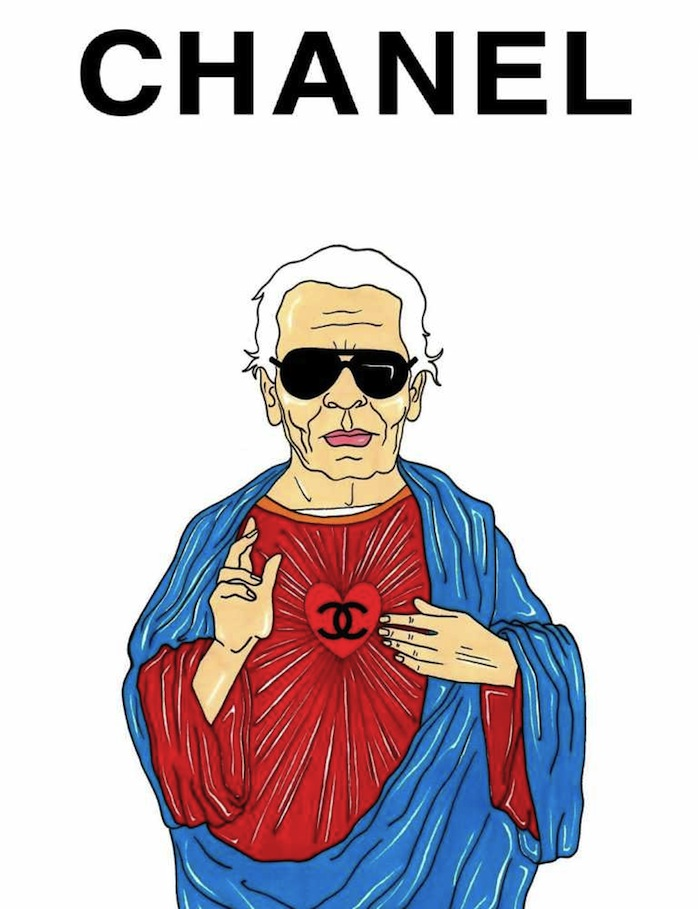 Karl Lagerfeld by aleXsandro Palombo featured on TheNuminous.net
