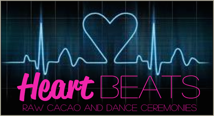 Heart Beats Raw Cacao and Dance Ceremonies logo featured on Thenuminous.net