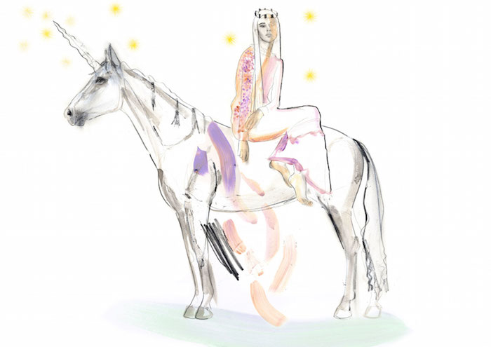 high vibe london fashion week unicorn illustration by erin petson for thenuminous.net
