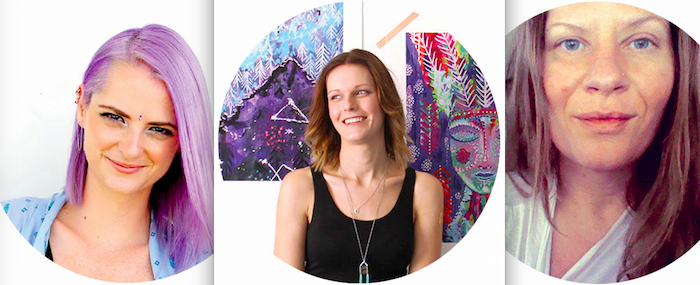 Sarah Wilder, Jo Klima and KV of The Cosmic Collective featured on the numinous