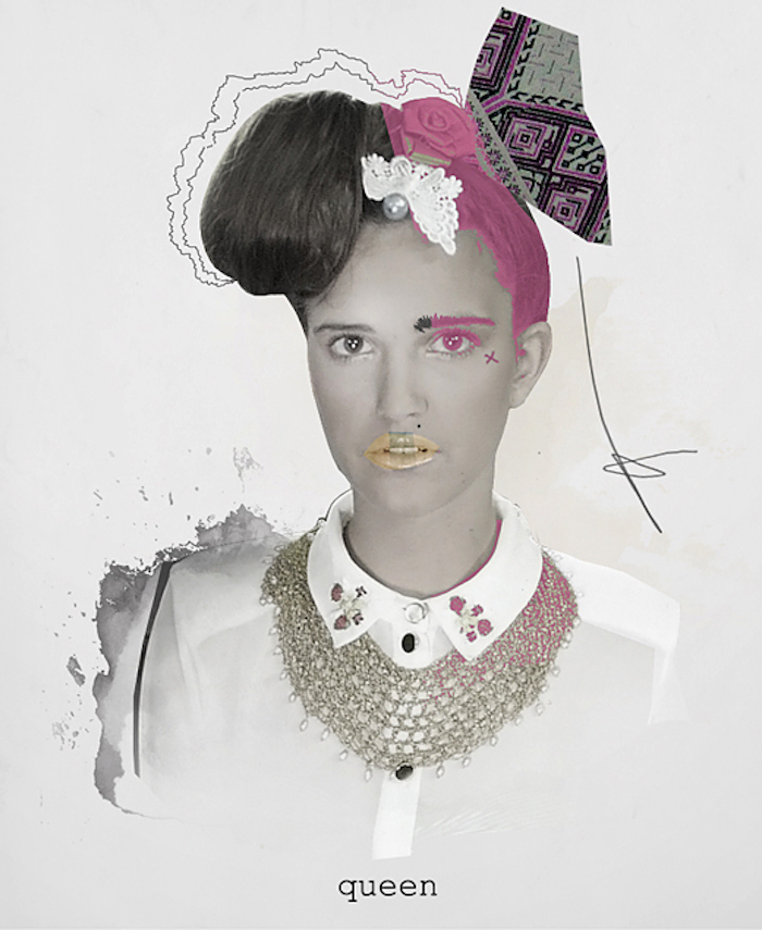 Prince Láuder fashion model collage featured on the numinous in pieces of me a story about sou retrieval