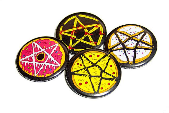 Danny Brito junk food pentagram pins on the numinous