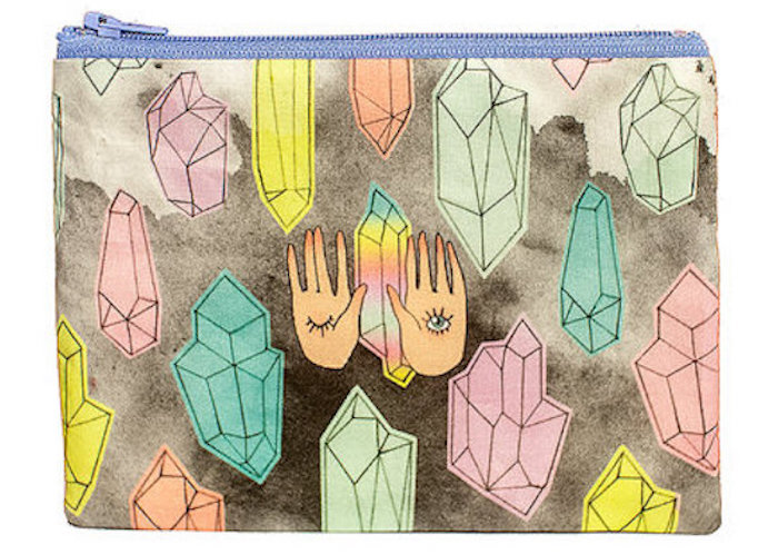 Danny Brito All Seeing Eyes and Crystals Zipper Pouch on The Numinous