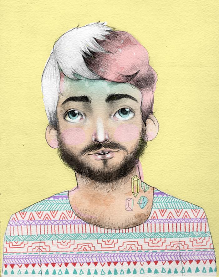 Danny Brito self portrait on The Numinous