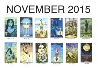 Tarotscopes November 2015 by Louise Androlia for The Numinous
