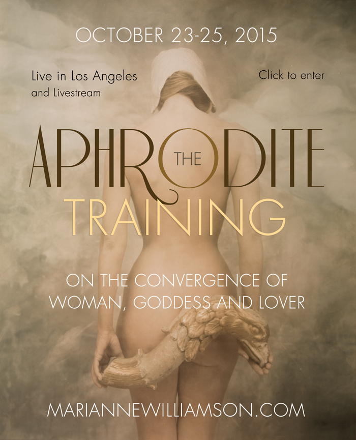 Marianne Williamson interview the aphrodite training on The Numinous
