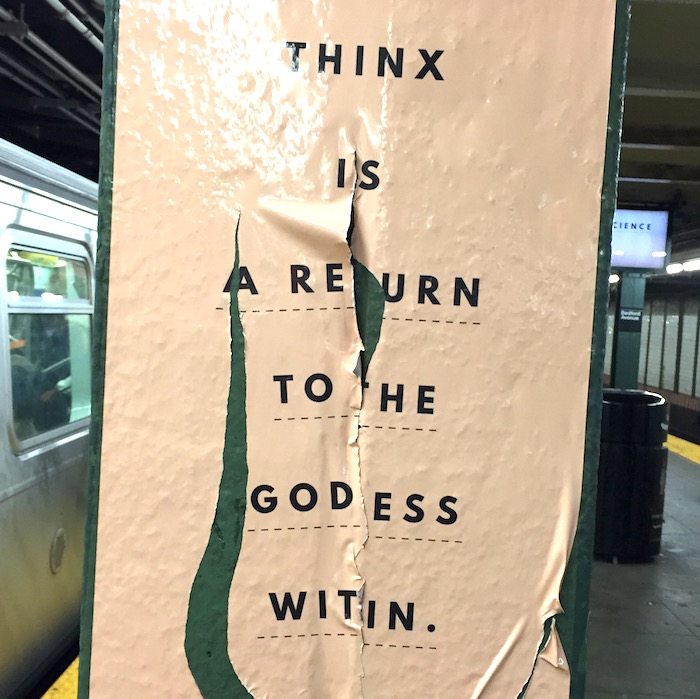 Thinx MTA ad campaign on The Numinous