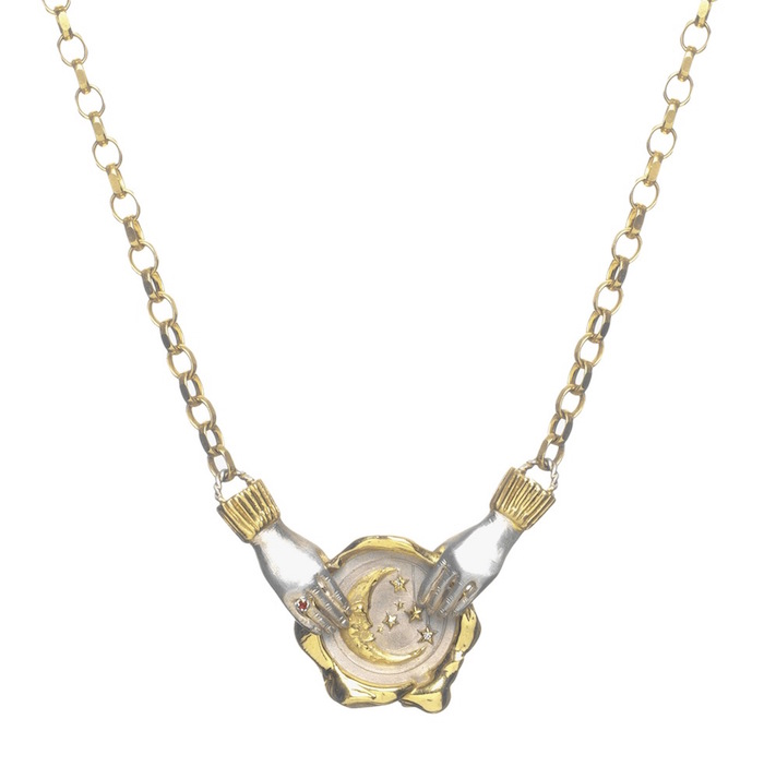 Moon seal necklace, from $665, Jessica De Lotz x Louise Androlia on The Numinous