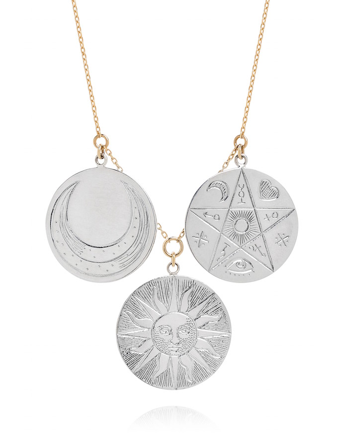 Multi-coin necklace, $490, Laura Lee on The Numinous