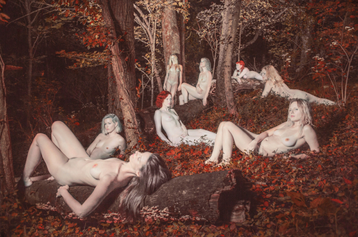 Goup of nudes in a forrest by Shae DeTar featured on The Numinous