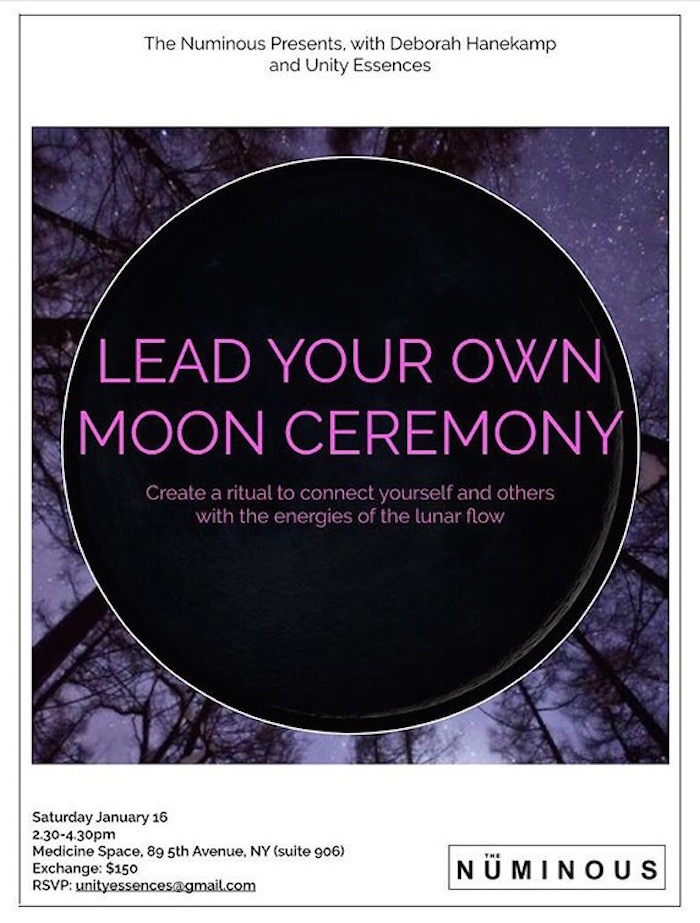 Lead your own moon ceremony workshop The Numinous and Unity Essences