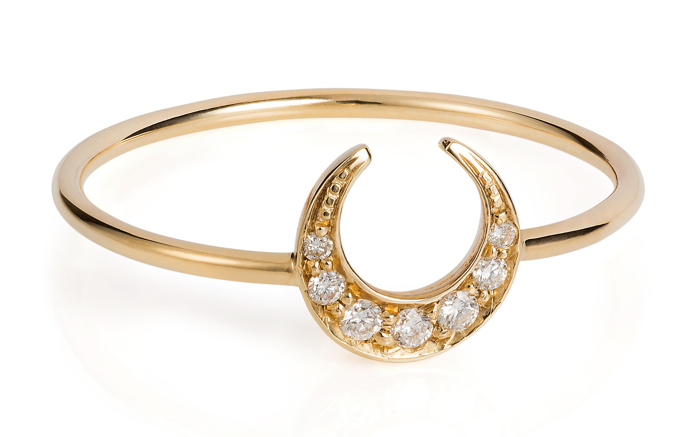 Laura Lee Jewellery Diamond Luna Ring on The Numinous