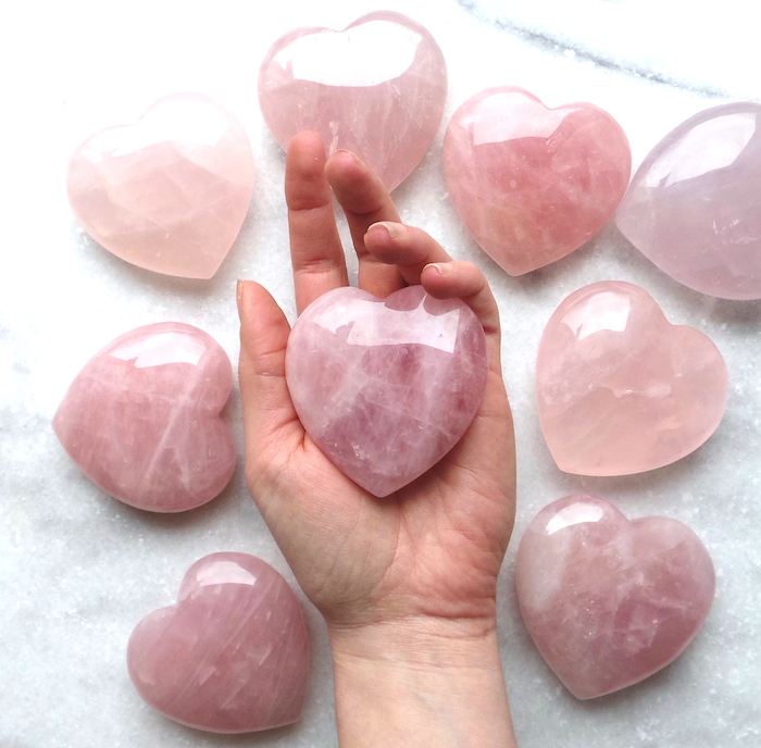 Rose Quartz ritual by The Colourful Dot hearts on The Numinous