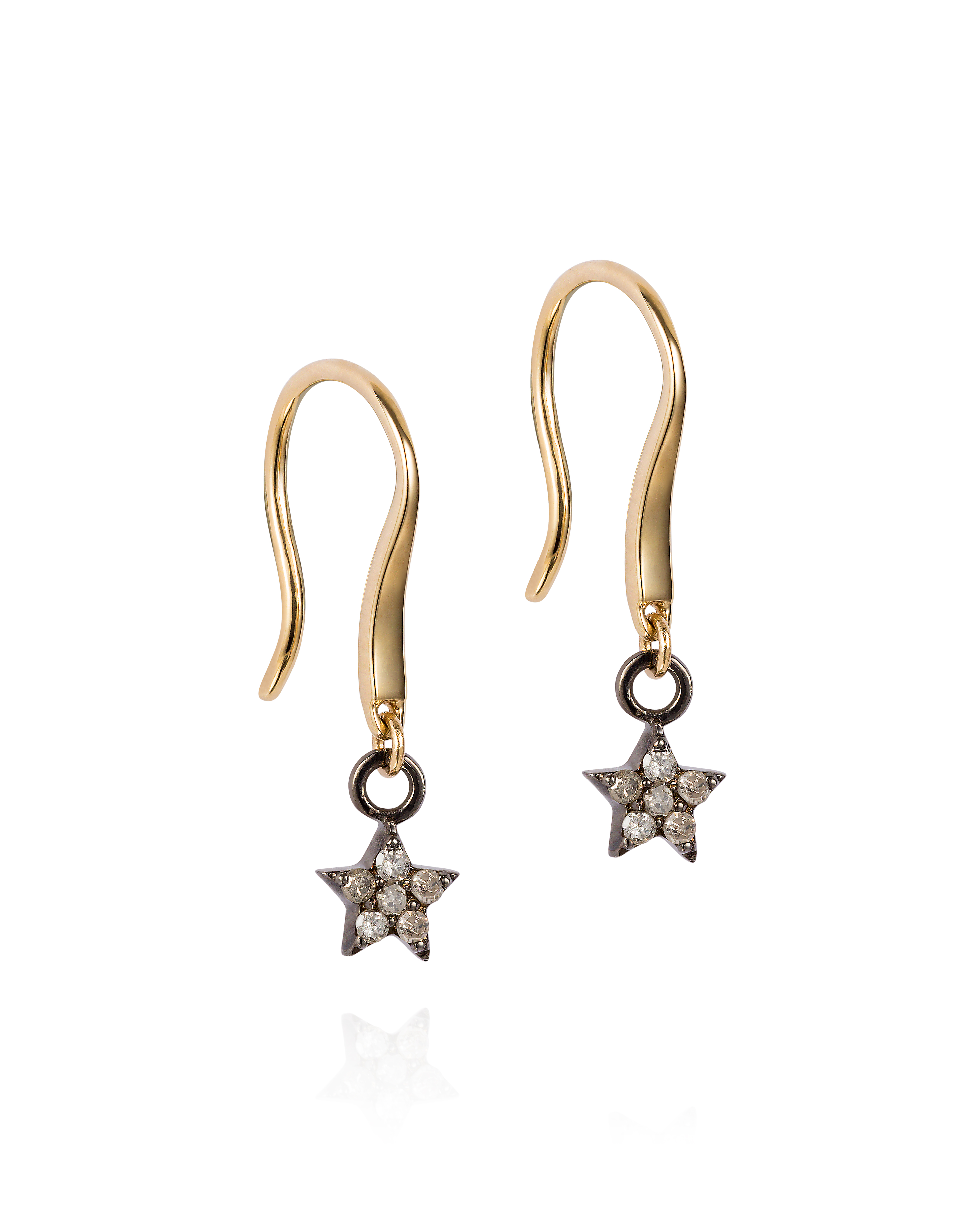 Diamond Set Star Drop Earrings £250, $360.57