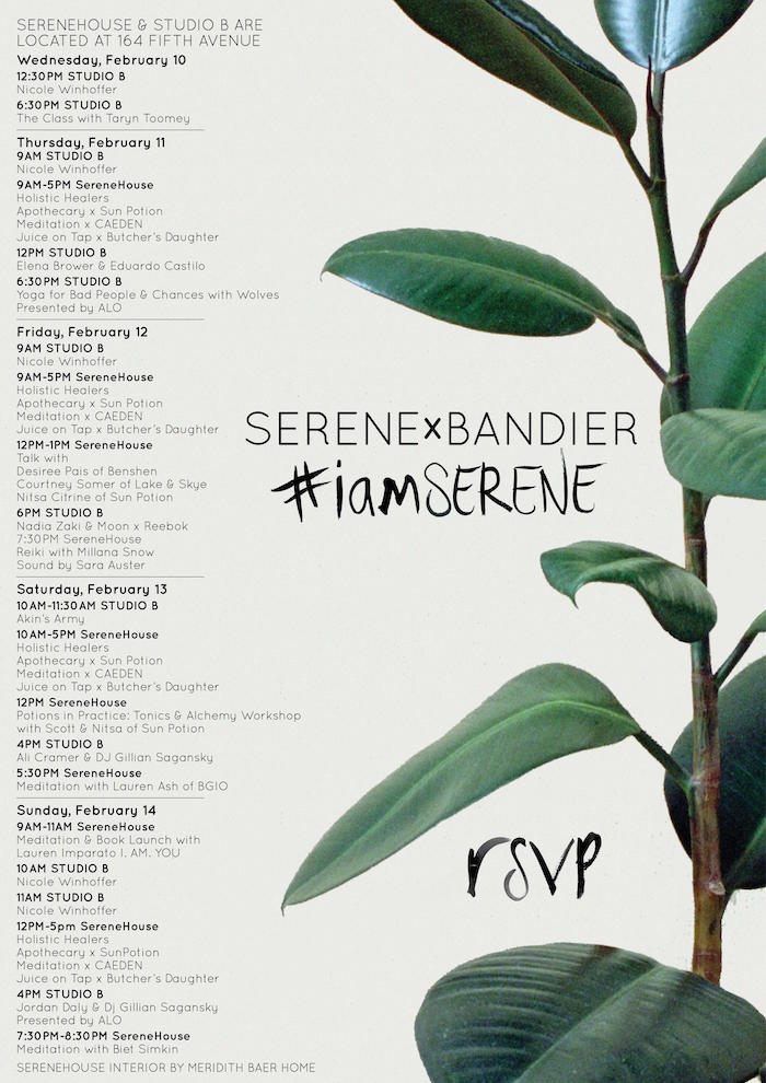 Serene x Bandier line-up NYFW on The Numinous