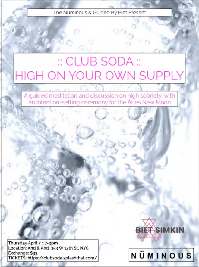 CLUB SODA INVITE FROM THE NUMINOUS