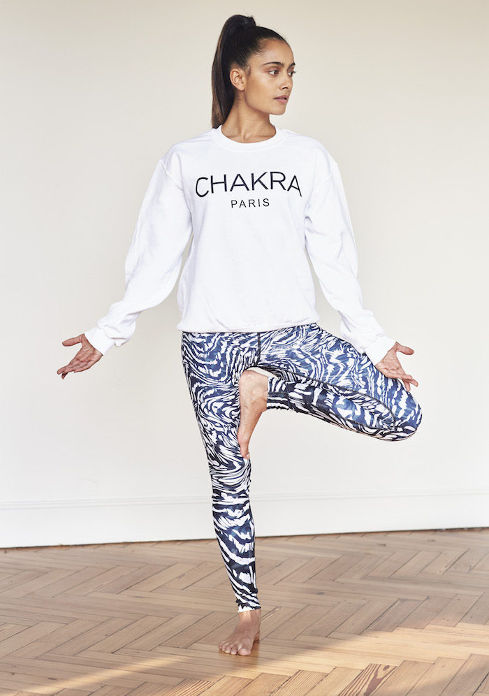 Shona Vertue white Chakra shirt on The Numinous