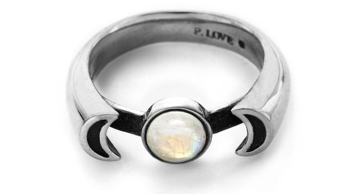 Moonstone ring, $200, Pamela Love