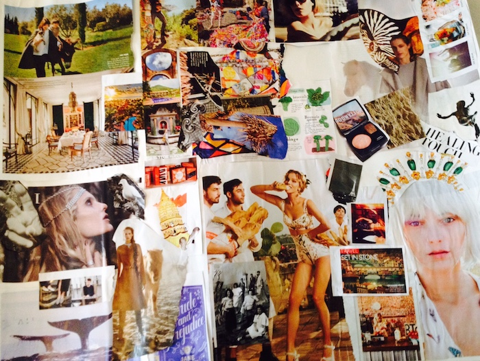 A Vision Board Elyssa made Last Year