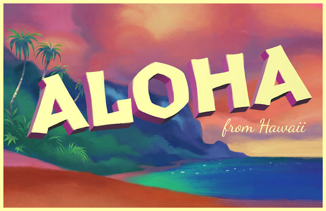 Hawaii postcard on The Numinous