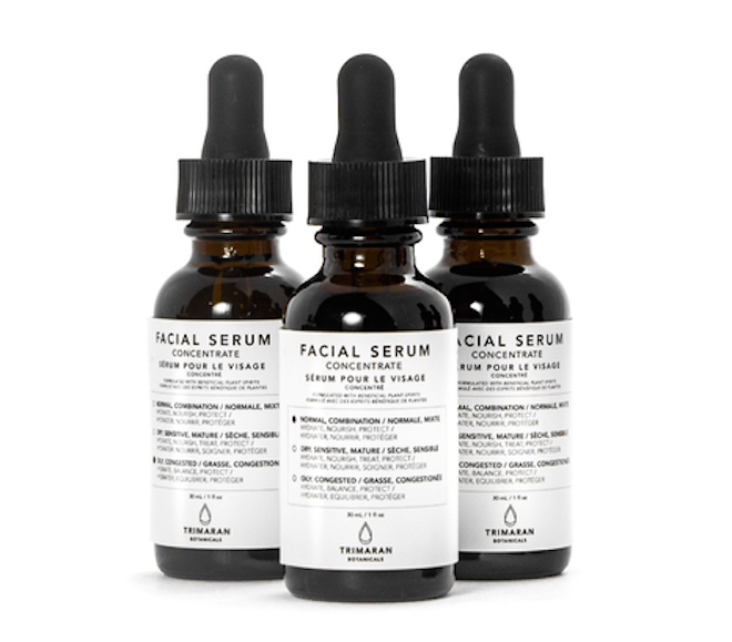 Facial Serums, $128 CAD, Trimaran Botanicals