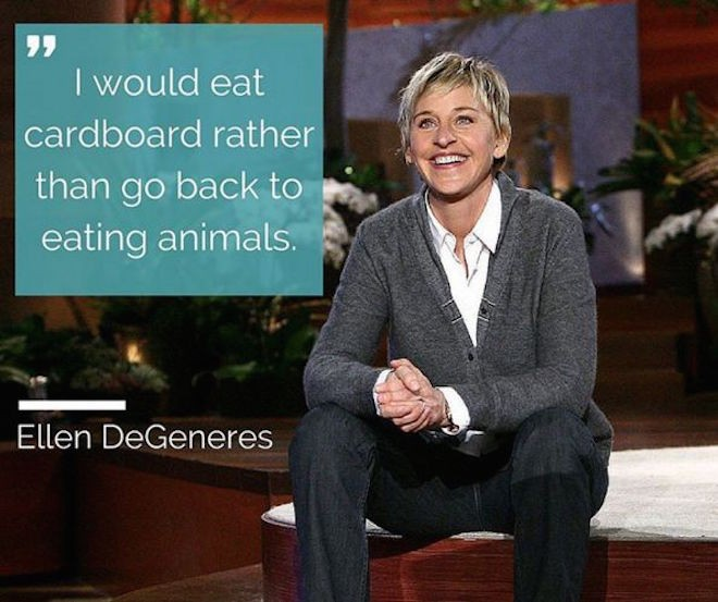 ellen degeneres vegan on The Numinous