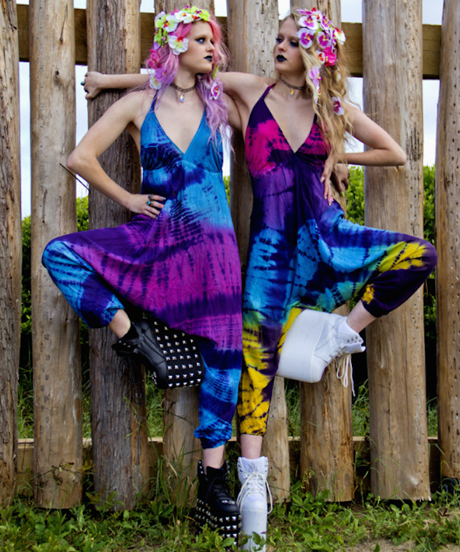 Tie-dye halter onesie, $35, TheMoonCult.com on The Numinous