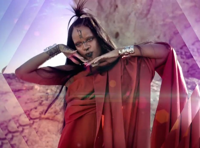 Rihanna rick owens music video black lips on The Numinous
