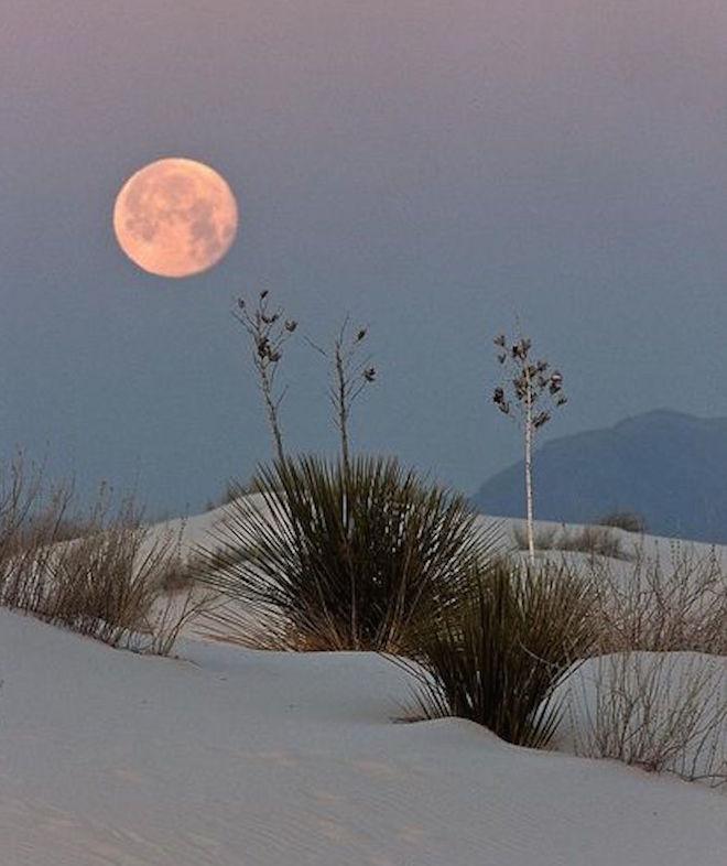 desert sand full moon virgo season by Mojave Rising on The Numinous