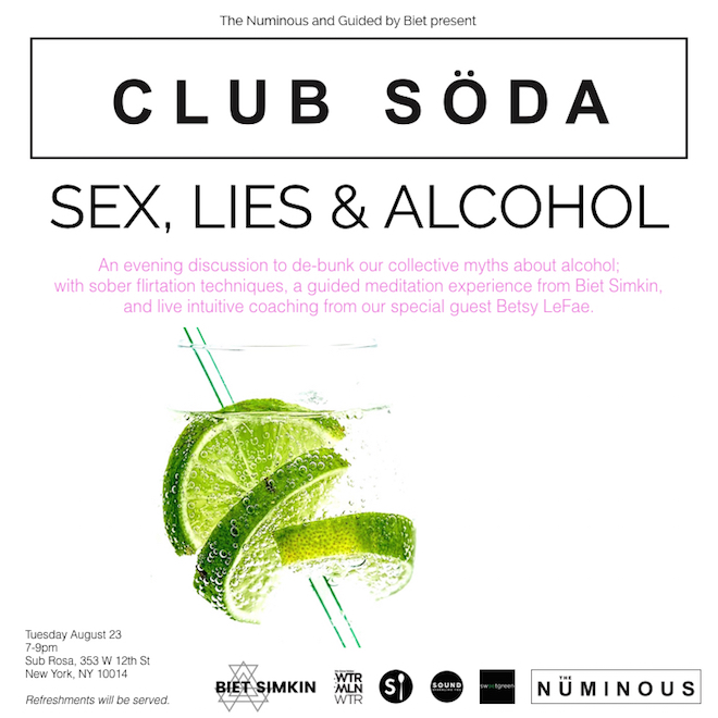 club soda sex lies & alcohol my mystical week ruby warrington the Numinous